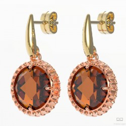 PENDIENTES PLATA BASIC BROWN