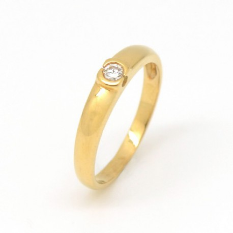 ANILLO ORO AMARILLO DIAMANTE