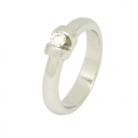 ANILLO ORO BLANCO DIAMANTE